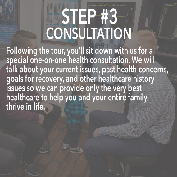 consultation at Thrive Family Chiropractic in Urbandale
