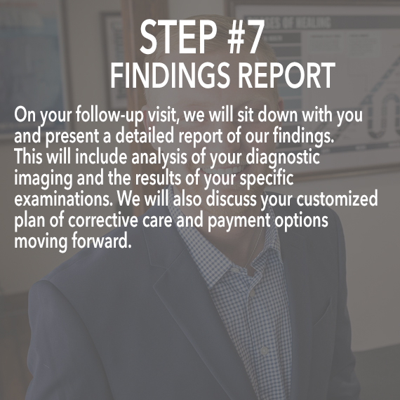 findings report at Thrive Family Chiropractic in Urbandale